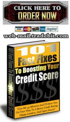 Product picture 101 Fast Fixes To Boosting Your Credit Score