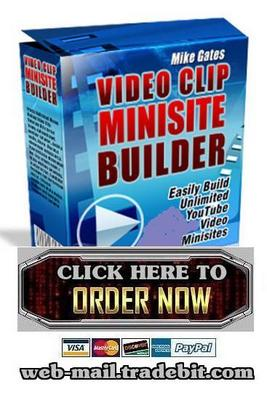 Product picture Video Clip Minisite Builder